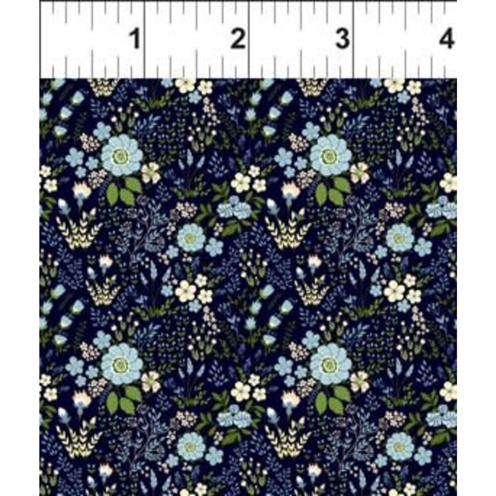 In the Beginning Fabrics Garden Delights - Floral Medley - Blue
