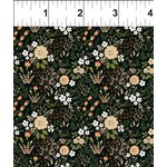 In the Beginning Fabrics Garden Delights - Floral Medley - Coral