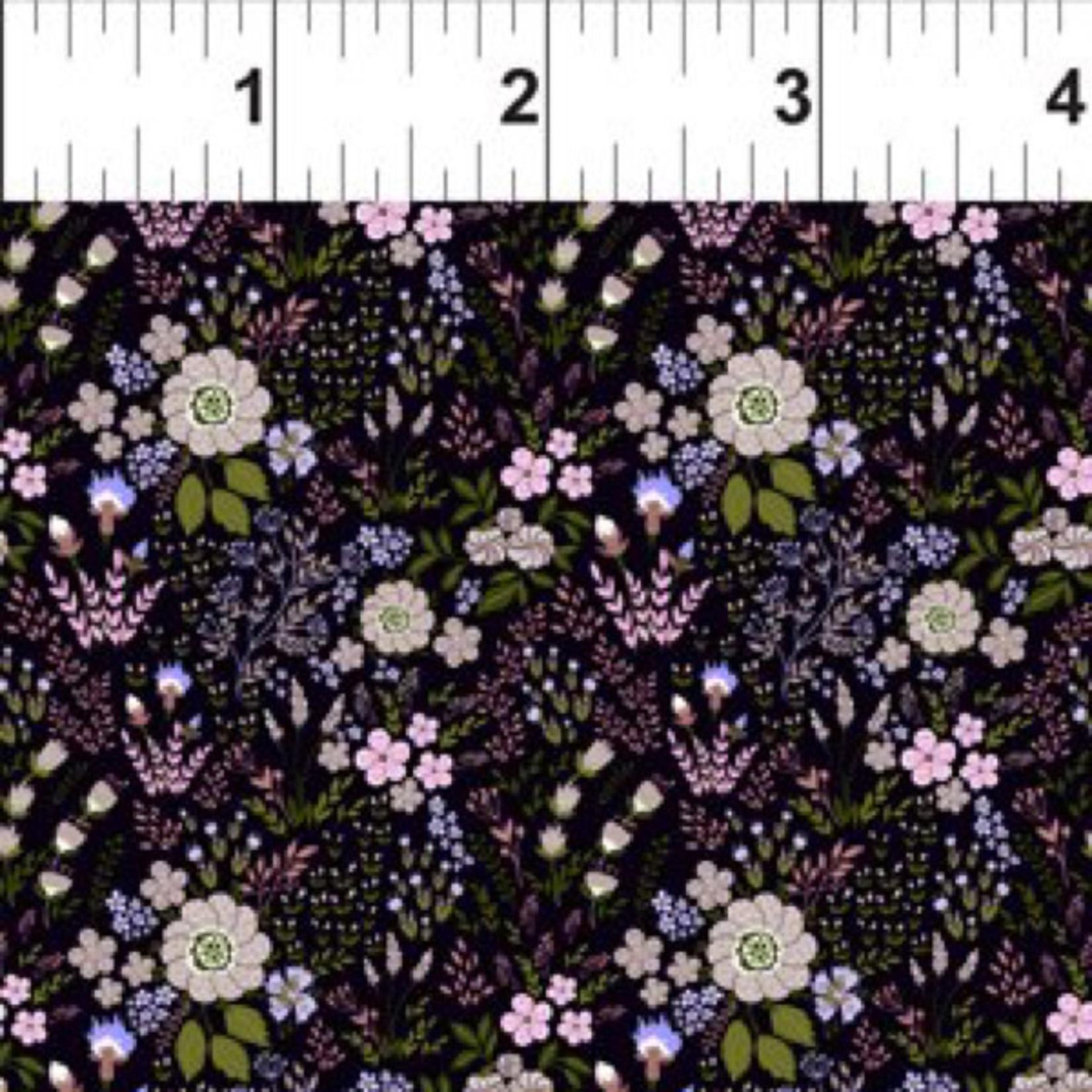 In the Beginning Fabrics Garden Delights - Floral Medley - Purple