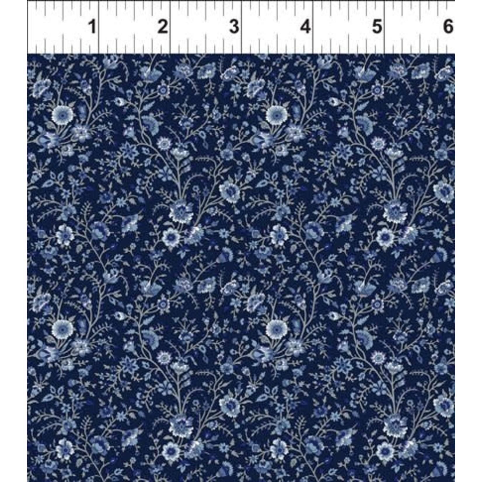 In the Beginning Fabrics Garden Delights - Flowers - Blue