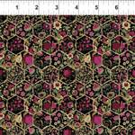 In the Beginning Fabrics Garden Delights - Hexagons - Magenta