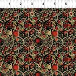 In the Beginning Fabrics Garden Delights - Hexagons - Red