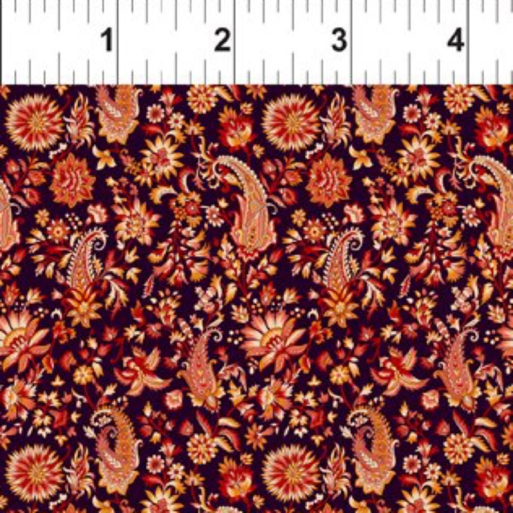 In the Beginning Fabrics Garden Delights - Paisley - Red