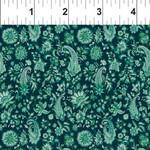 In the Beginning Fabrics Garden Delights - Paisley - Teal