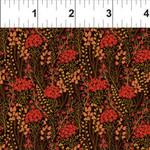 In the Beginning Fabrics Garden Delights - Prairie Flowers - Red