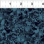 In the Beginning Fabrics Garden Delights - Tonal Floral - Blue
