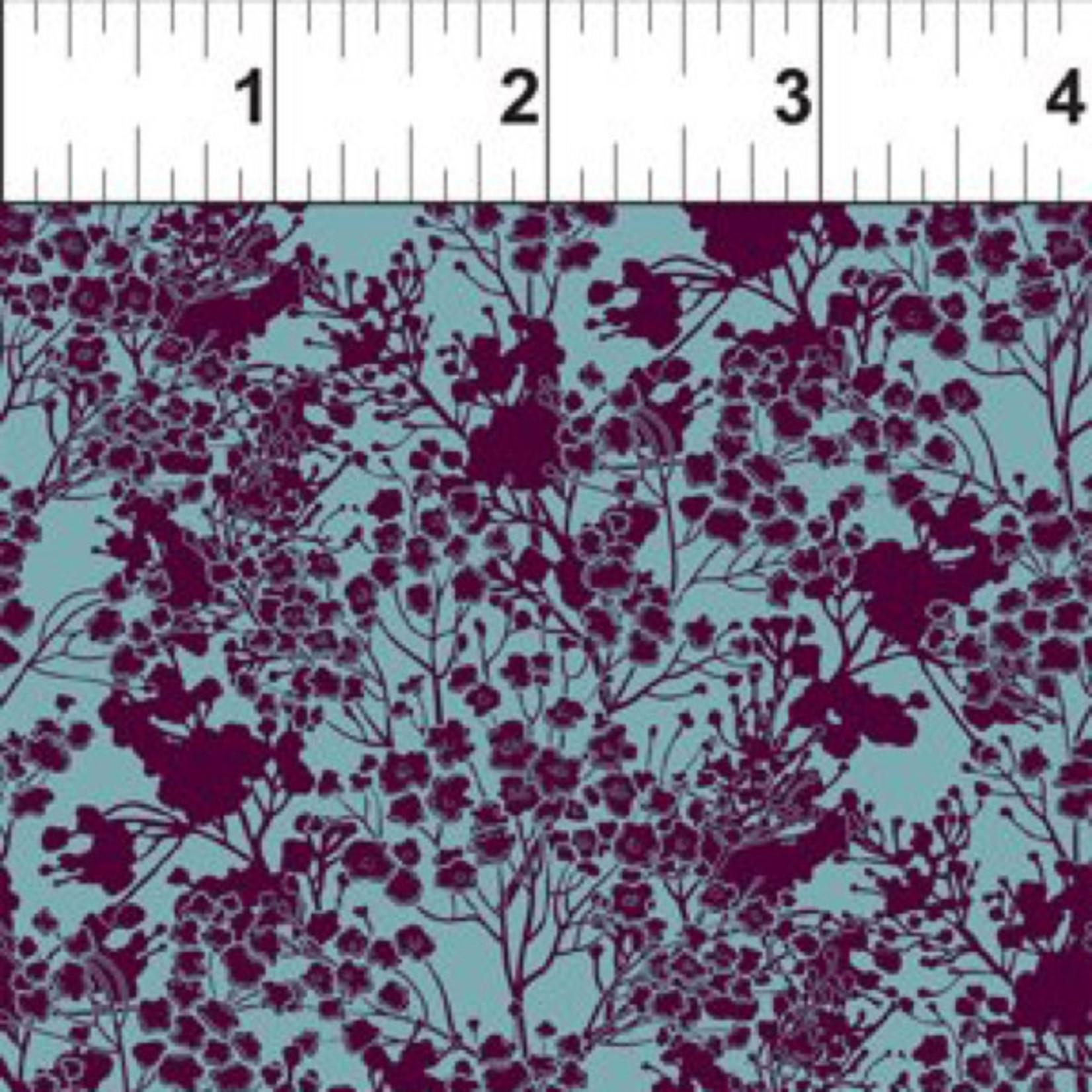 In the Beginning Fabrics Garden Delights - Tonal Floral - Plum