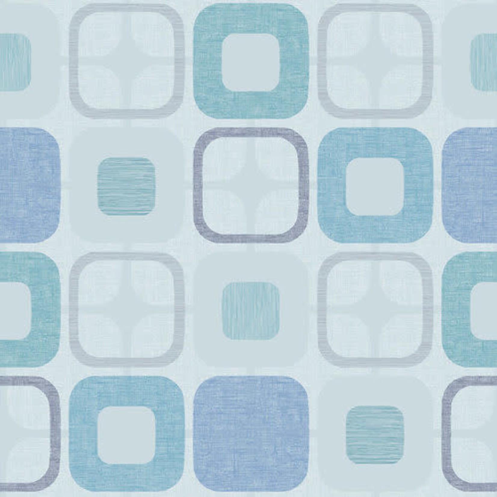 Blank Quilting - Geo Square - Light Blue - Coupon 145 cm x 274 cm