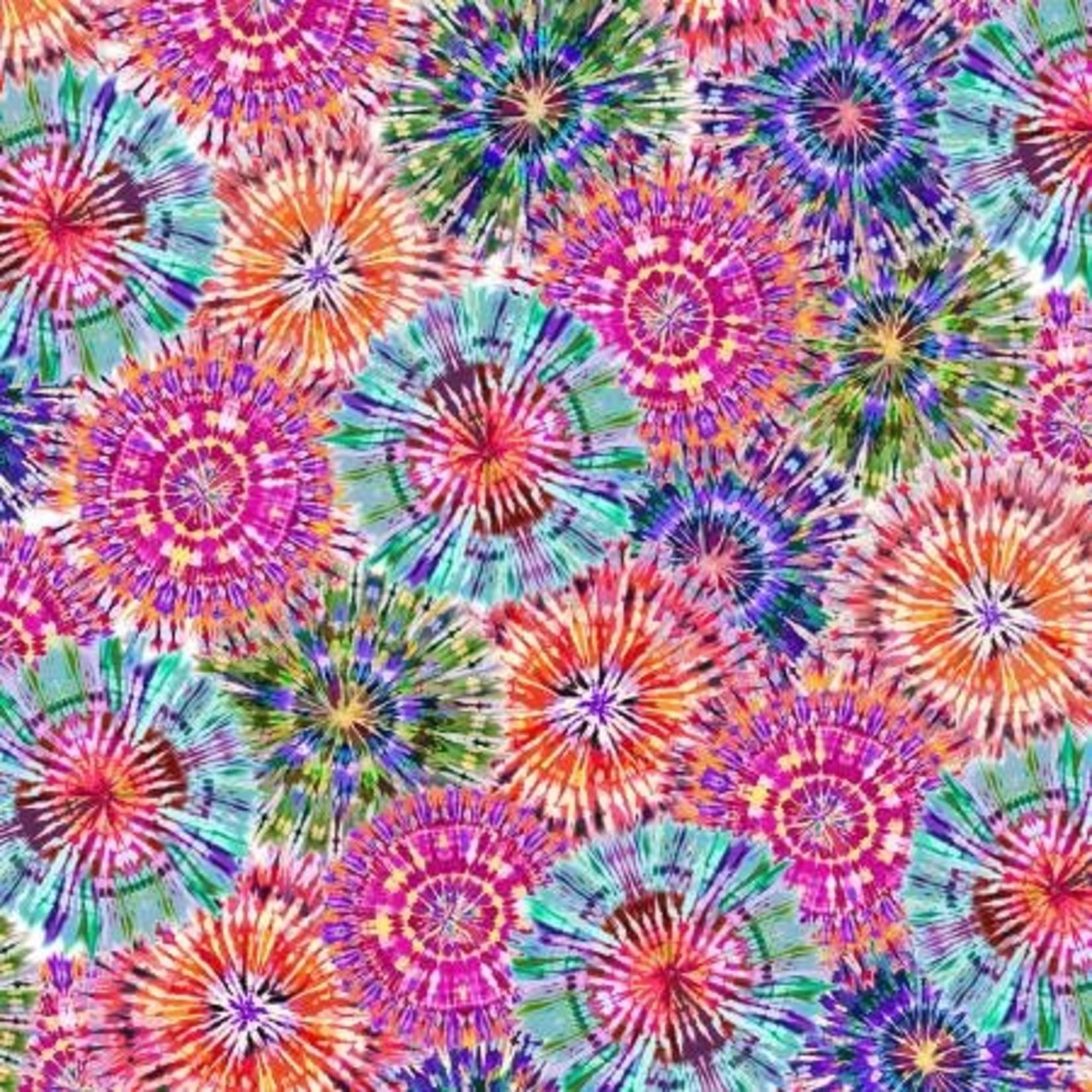 Henry Glass Fabrics Bright Starburst - Multi long Quarter (25 cm x 110 cm)