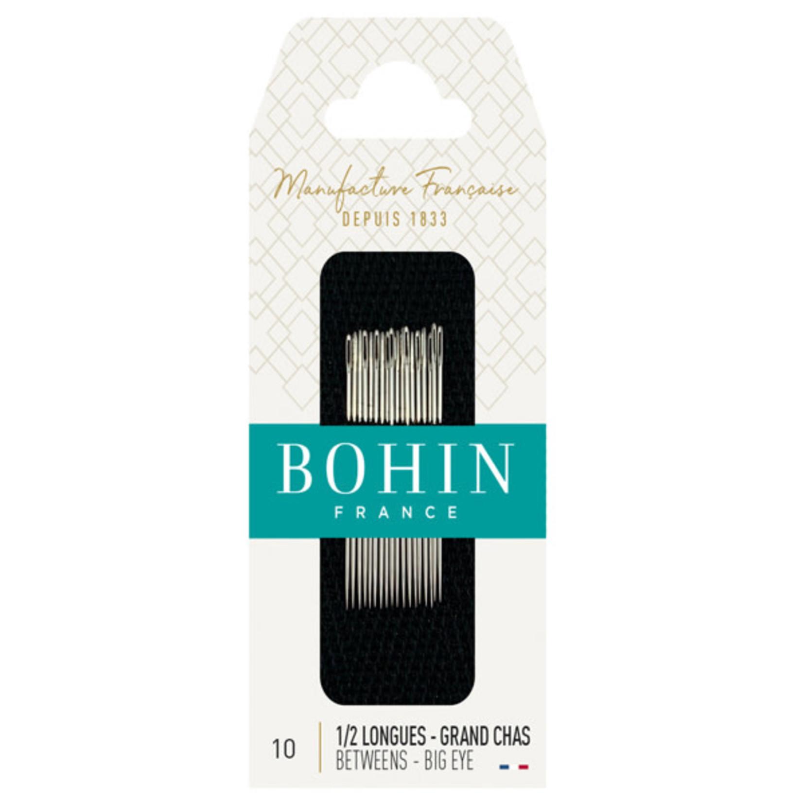 Bohin BETWEEN NEEDLES Nr 10 BIG EYE (Blister 20pc)