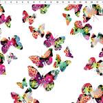 In the Beginning Fabrics A Groovy Garden - Butterflies - Multi