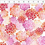 In the Beginning Fabrics A Groovy Garden - Dandy - Red