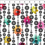 In the Beginning Fabrics A Groovy Garden - Flower Stripe - Multi