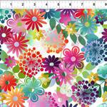 In the Beginning Fabrics A Groovy Garden - Garden Small - Multi