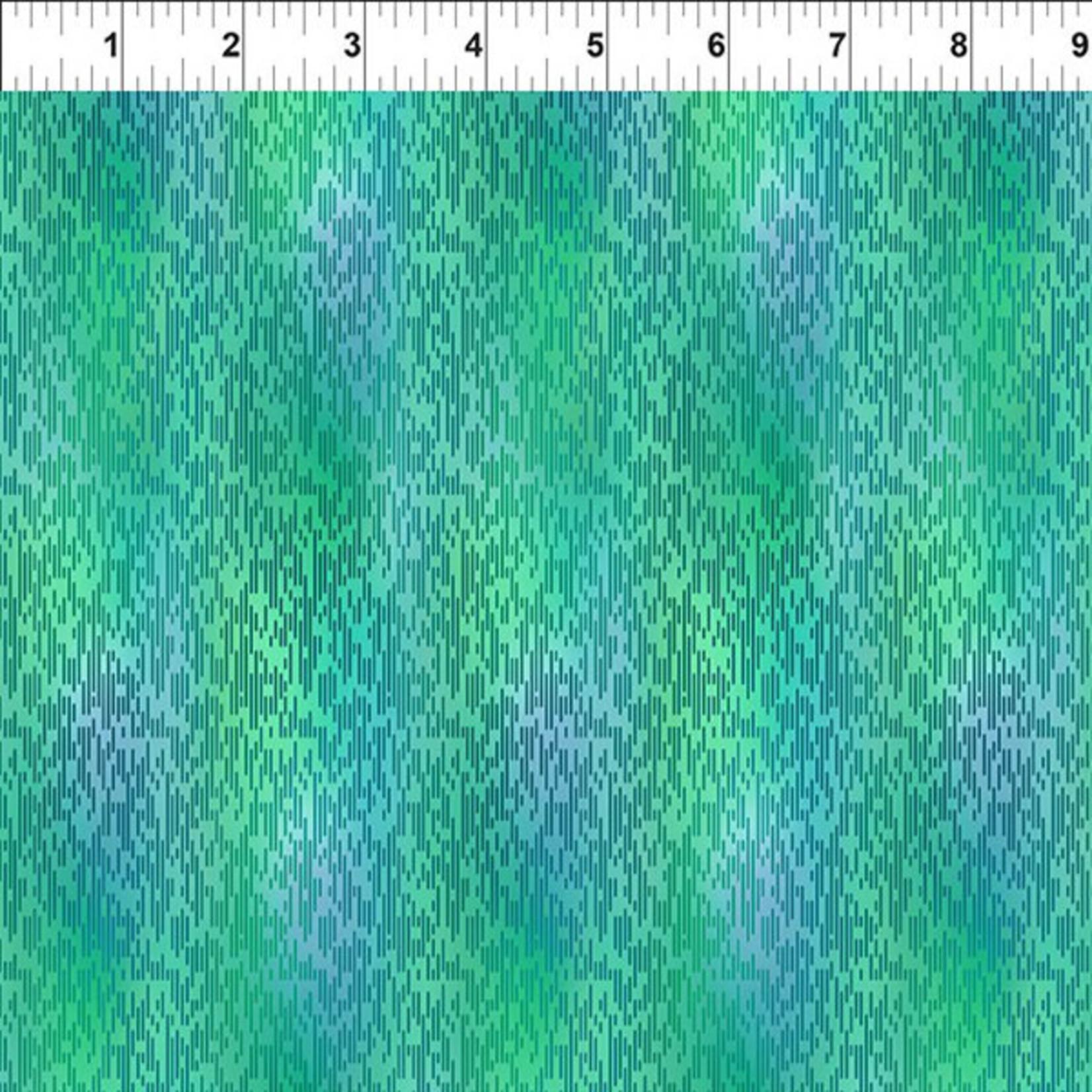 In the Beginning Fabrics A Groovy Garden - Texture - Teal