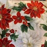 Hoffman Fabrics Kerst - Kerstster - Wit Rood