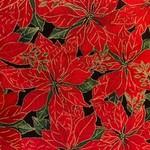 Timeless Treasures Kerst - Holliday - Kerstster - Rood