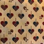 Stof Fabrics Kerst - Gevlochten Hart - Cream Multi