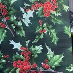 Hoffman Fabrics Kerst - Hulst - Bes - Groot - Multi