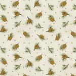 Benartex Winterberry - Dotted Pine - Cream