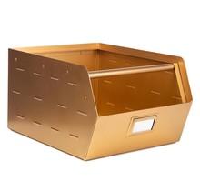Metalen opbergbak goud