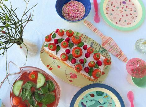Recept frisse zomercake met aardbei