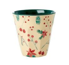 Beker met Poinsettia kerstprint - melamine