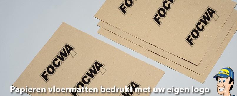 Papieren vloermatten bedrukt met eigen logo