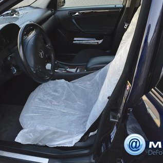 KEMTEX 250 wegwerp stoelhoezen, ter bescherming van de bekleding van de autostoel. Op rol geleverd.
