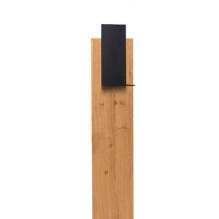@Mask Desinfectie zuil Kantoor- & Horeca-dispenser | Luxe desinfectie meubel | Industrieel zwart met hout & van zware kwaliteit | Desinfectie paal