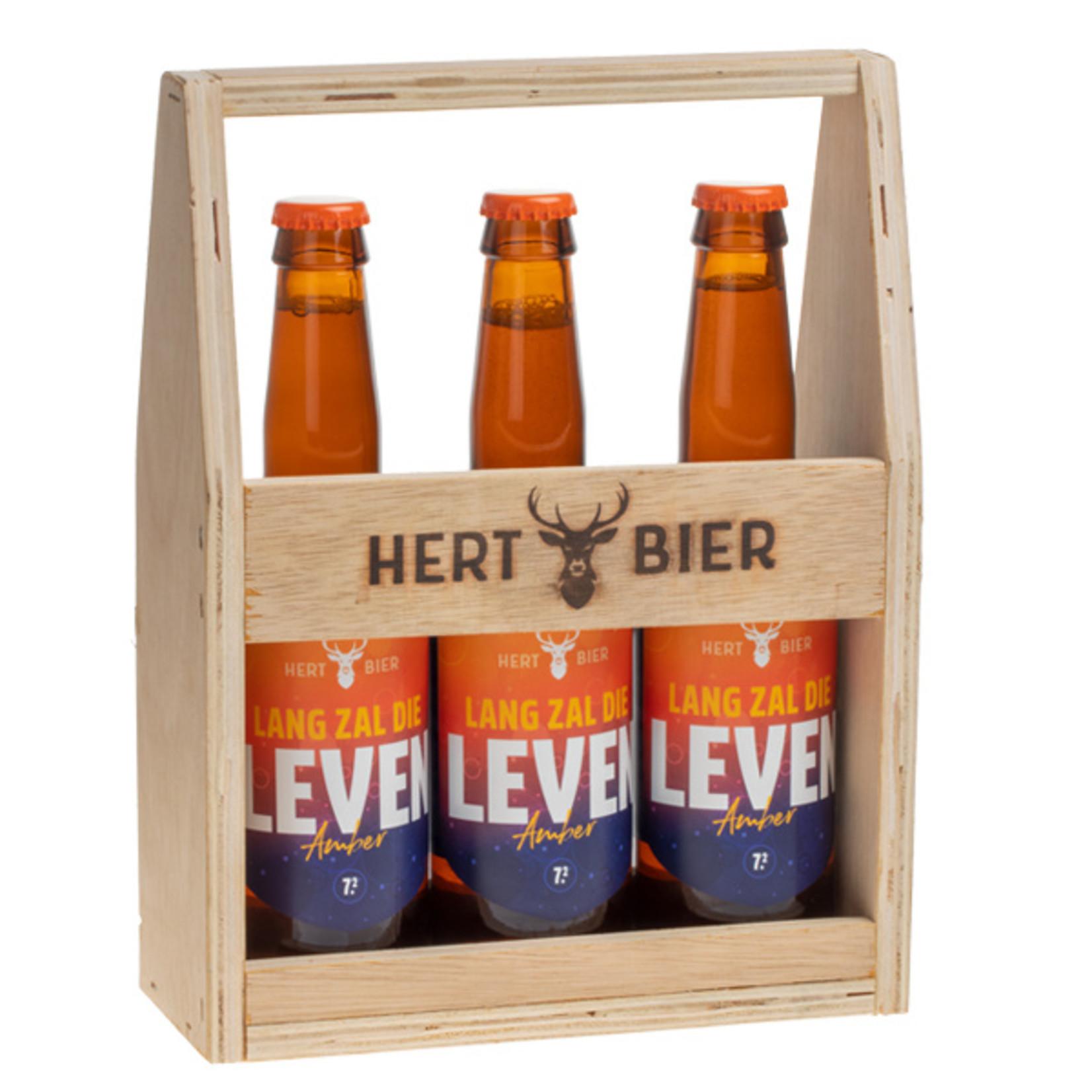 Hert Bier Bierkrat met 3x Lang Zal Die Leven