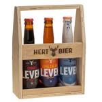 Hert Bier Houten kratje met de specials: Stout Leven, Speciaal Leven & Lang Zal Die Leven