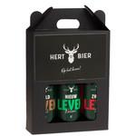 Hert Bier Bierdoos met Wild Leven, Nieuw Leven & Zwaar Leven