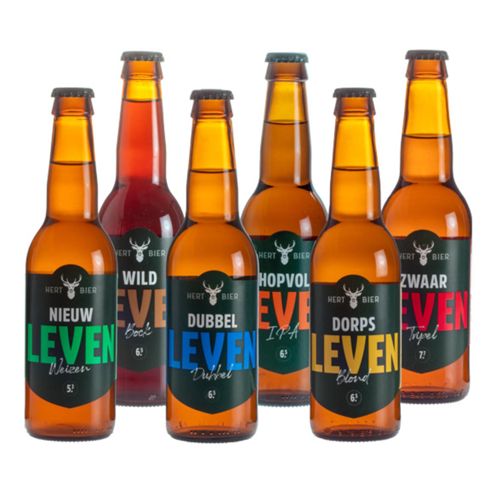 Hert Bier Bierkrat met 6 basis bieren