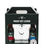 Hert Bier 4 speciaalbieren met speciaalbier glas van Hert Bier