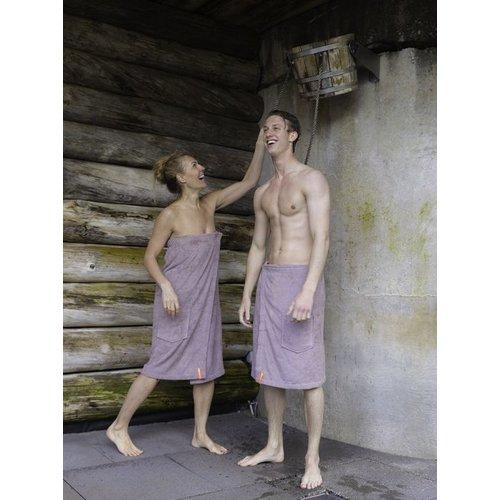 S&LT  Heren sauna handdoek met borduring