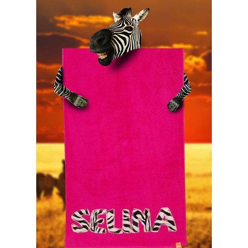 S&LT  Strandhanddoek met dierenprint