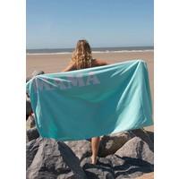 Velours strandlaken met naam print