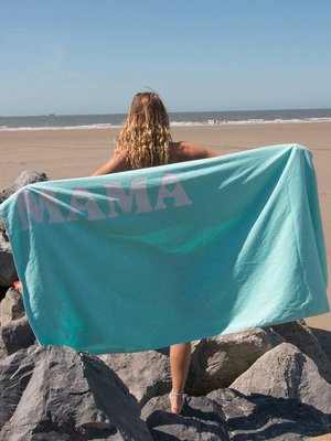 S&LT  Velours strandlaken met naam print