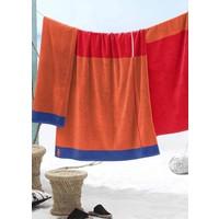Strandhanddoek Block rood