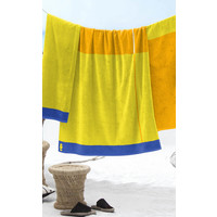 Strandhanddoek Block geel