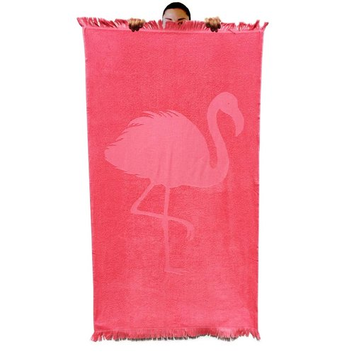 Badstof hamamdoek Flamingo