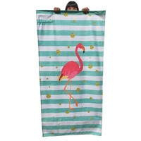 Streep strandhanddoek Flamingo