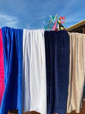 S&LT  XL strandlaken velours - 7 kleuren
