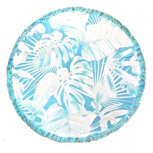 Badstof ronde handdoek Tropic