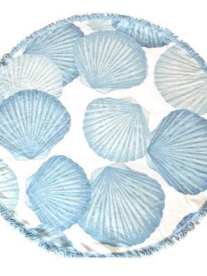 Badstof ronde handdoek Shell