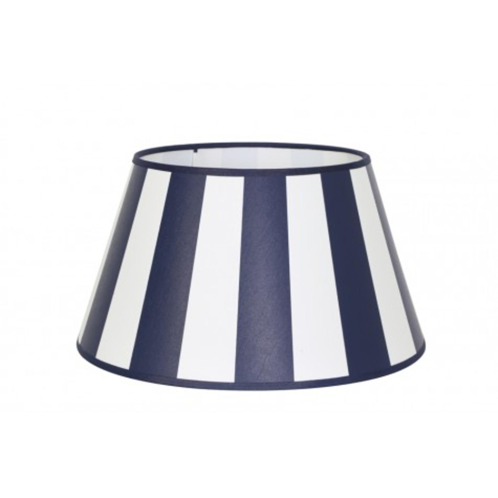 Light & Living Drum Shade 20x15x13cm KING navy blue