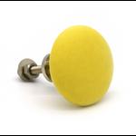 Pushka Flat Yellow Ceramic Cupboard Knob
