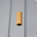 PKA Brushed Brass Gold Hexagonal Bathroom Light Pull without cord