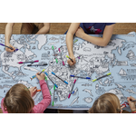 Eat Sleep Doodle World Map Doodle Tablecloth (Colour in)